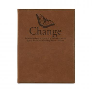 Change Butterfly Vegan Leather Padfolio