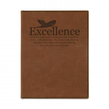 Excellence Eagle Vegan Leather Padfolio