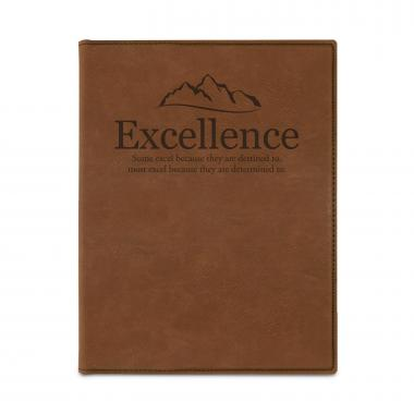 Excellence Mountain Vegan Leather Padfolio