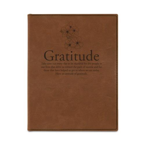Gratitude Cherry Blossoms Vegan Leather Padfolio
