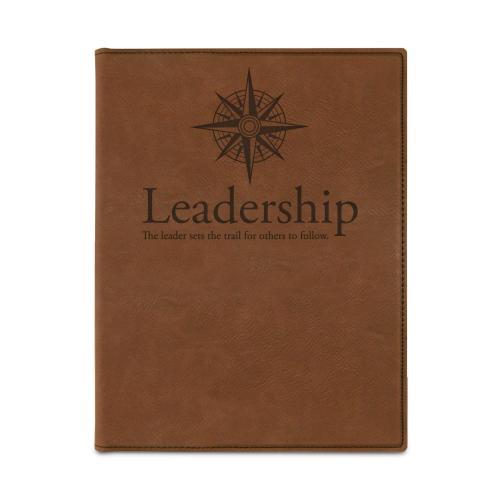 Leadership Compass Vegan Leather Padfolio