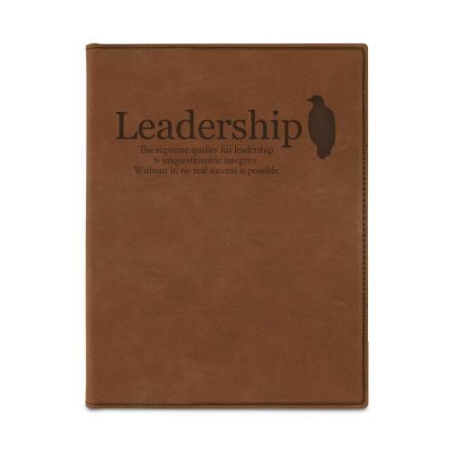 Leadership Eagle Vegan Leather Padfolio