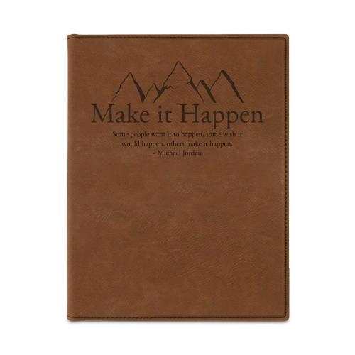 Make it Happen Mountain Vegan Leather Padfolio
