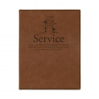 Service Waterfall Vegan Leather Padfolio