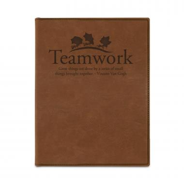 Teamwork Ants Vegan Leather Padfolio