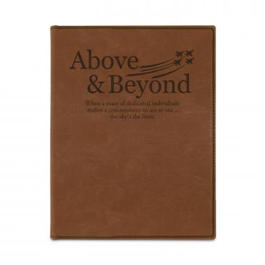 Above & Beyond Jets Personalized Vegan Leather Padfolio