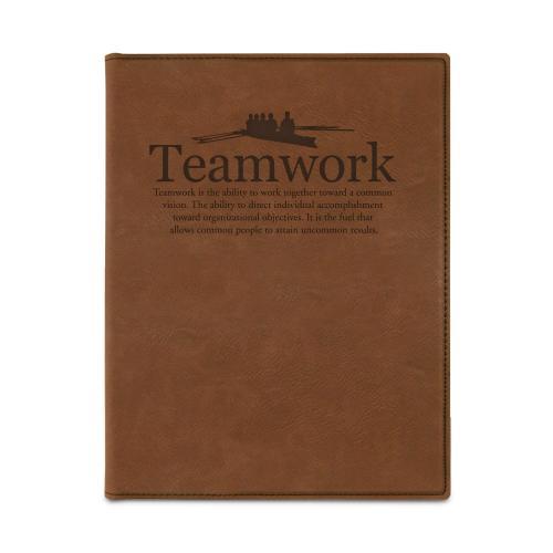 Teamwork Rowers Vegan Leather Padfolio