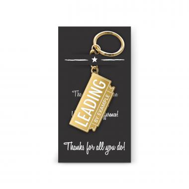 Leading by Example Value Metal Keychain