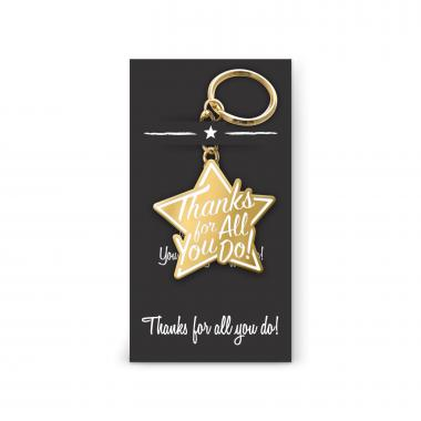 Thanks for All You Do Value Metal Keychain