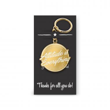 Attitude is Everything Value Metal Keychain