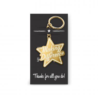 Making a Difference Star Value Metal Keychain