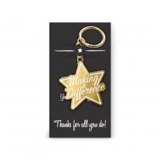 Keychains - Making a Difference Star Value Metal Keychain