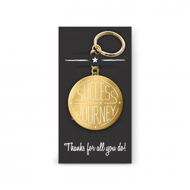 Success is a Journey Value Metal Keychain