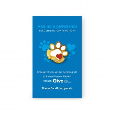 Animal Rescue Shelters Charity Lapel Pin