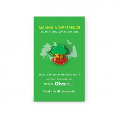 Forest Conservation Charity Lapel Pin