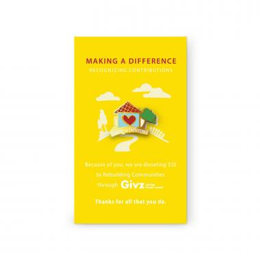 Rebuilding Communities Charity Lapel Pin