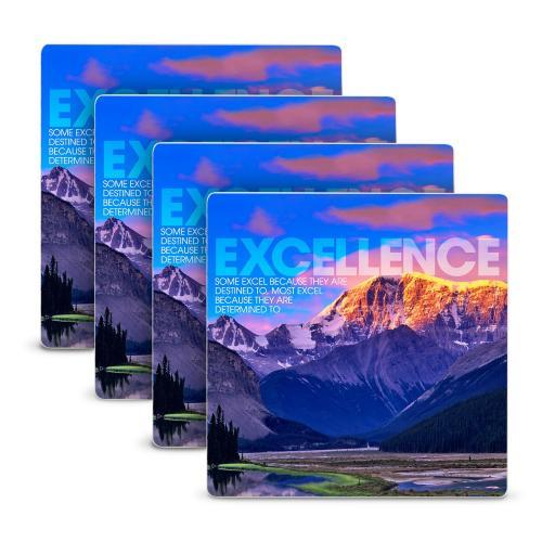 Excellence Mountain Stone Coaster Set