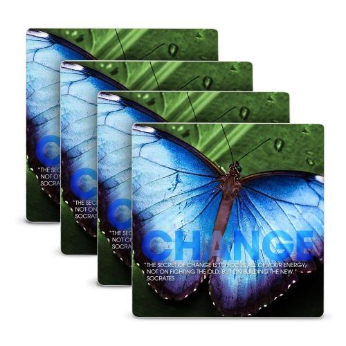 Change Butterfly Stone Coaster Set