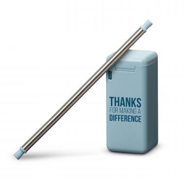 Thanks for Making a Difference Collapsible Straw