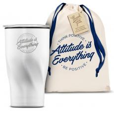 Vacuum Insulated - The Twisty - Attitude is Everything Circle 16oz. Tumbler