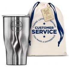 Vacuum Insulated - The Twisty - Customer Service 16oz. Tumbler