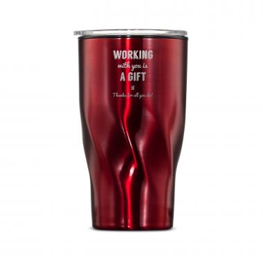 The Twisty - Working With You is a Gift Thanks 16oz. Tumbler