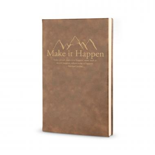 Make It Happen Mountain - Vegan Leather Journal