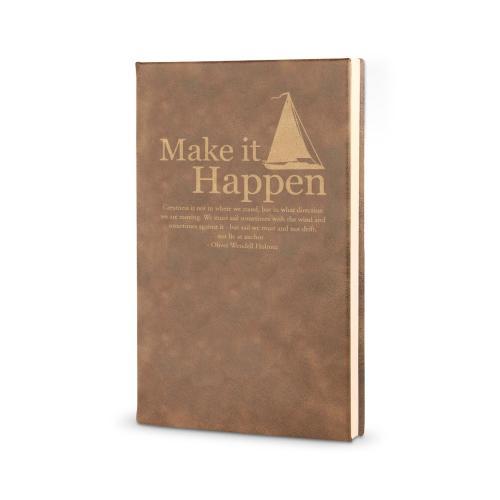 Make It Happen Sailboat - Vegan Leather Journal
