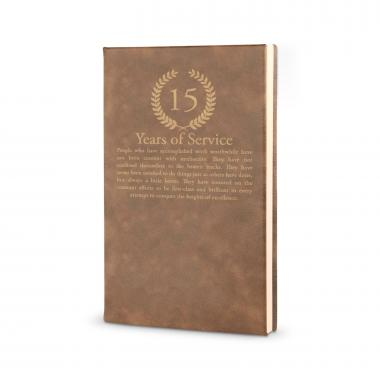Years of Service - Vegan Leather Journal