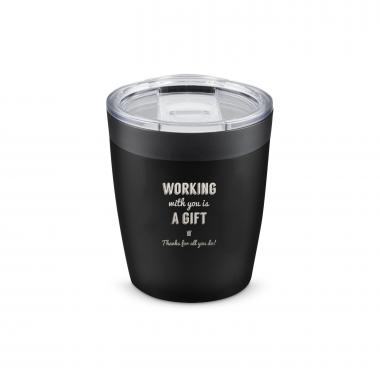 The Perk - Working With You is a Gift Thanks 8oz. Tumbler