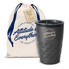 Vacuum Insulated - The Geoform - Attitude is Everything Circle 12oz. Tumbler