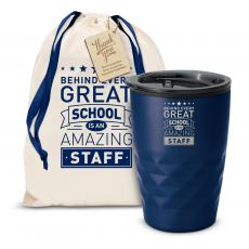 Vacuum Insulated - The Geoform - Behind Every Great School 12oz. Tumbler