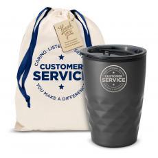 Fun Motivation & Gifts - The Geoform - Customer Service 12oz. Tumbler