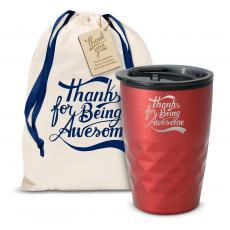 Vacuum Insulated - The Geoform - Thanks for Being Awesome 12oz. Tumbler