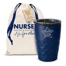 Vacuum Insulated - The Geoform - Thanks Nurse Star 12oz. Tumbler