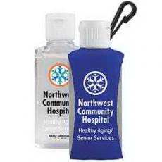 Health & Safety - 2 oz Custom Label Sanitizer in a Clip