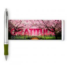 Motivational Image Pens - Gratitude Cherry Blossoms Banner Pen
