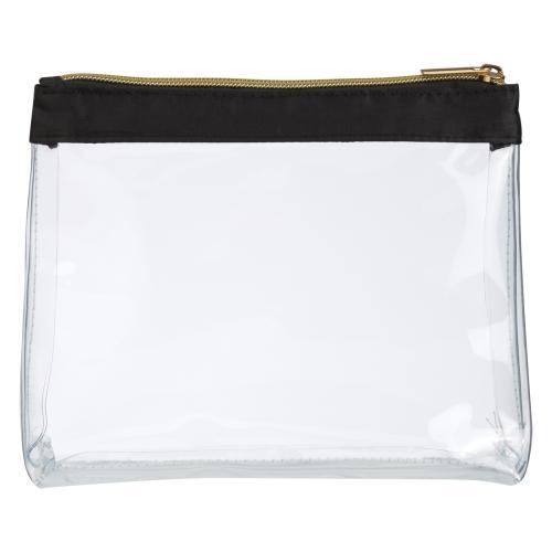 Sadie Satin Clear Cosmetic Bag