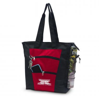 Teamwork Dream Work Tiered Tote Bag