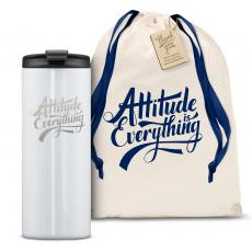 Vacuum Insulated - The Slimline - Attitude is Everything 12oz. Tumbler