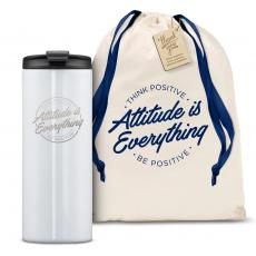 Vacuum Insulated - The Slimline - Attitude is Everything Circle 12oz. Tumbler