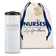 Vacuum Insulated - The Slimline - Nurses Making a Difference 12oz. Tumbler