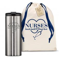 Vacuum Insulated - The Slimline - Nurses Touch Hearts 12oz. Tumbler