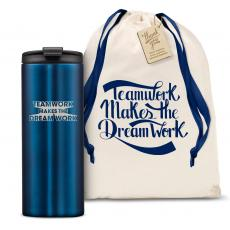 Vacuum Insulated - The Slimline - Teamwork Dream Work 3D 12oz. Tumbler