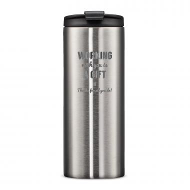 The Slimline - Working With You is a Gift Thanks 12oz. Tumbler