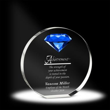 Diamond Embrace Crystal Award