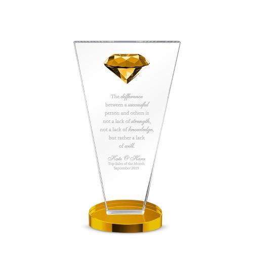 Diamond Rising Dais Crystal Award