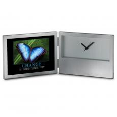 Aluminum Clocks - Change Butterfly Desk Clock
