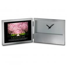 Aluminum Clocks - Gratitude Cherry Blossom Desk Clock