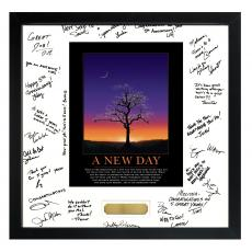 Signature Frames - Essence of A New Day Framed Signature Motivational Poster